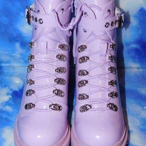 Jeffrey Campbell Czech Check Lace Up Boots